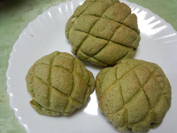 メロンパン(抹茶)