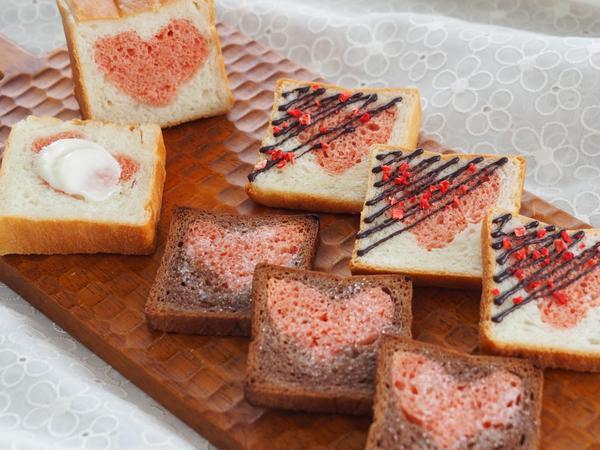 スリム型を使ったデコ食パンは ラスクに最適!