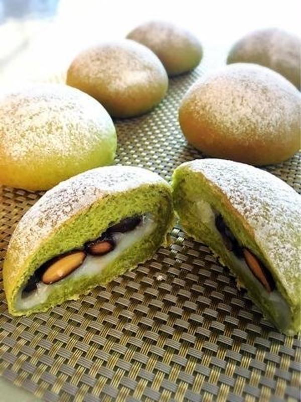 2月 抹茶黒豆大福パン