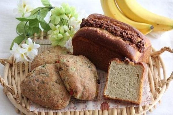 ベジィルース&ふんわりバナナブレッド  さくらんぼ酵母使用