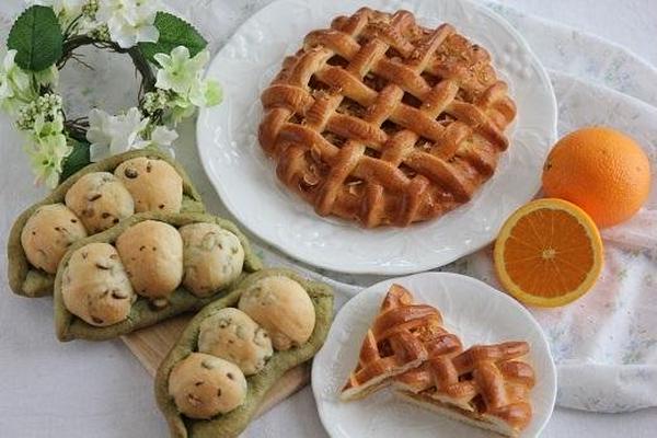 枝豆パン&オレンジのコーヒーケーキ