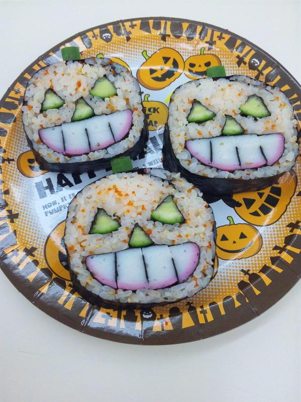 ハロウィン de 飾り巻き寿司