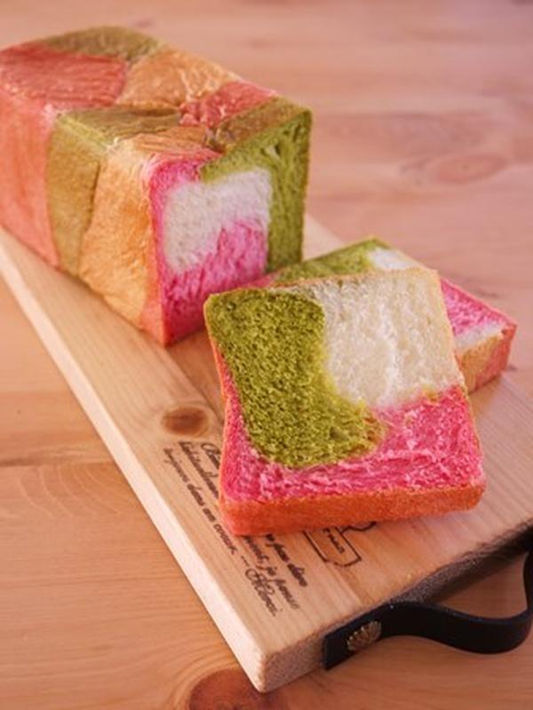 4月に作った3色食パン♪