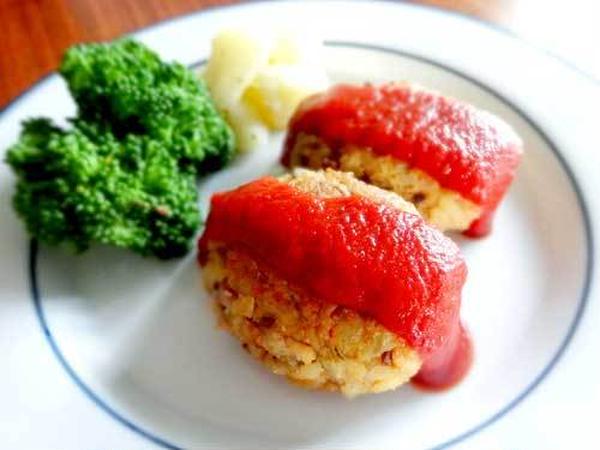 マクロビ豆腐ハンバーグです♪