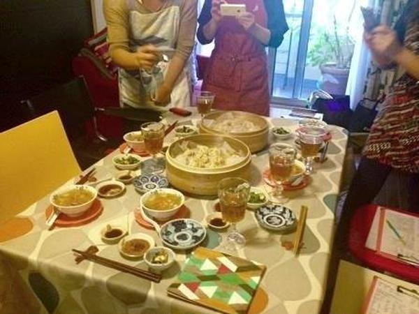 中華レッスン試食前。