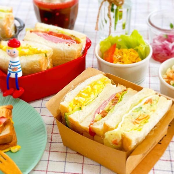 プライベートレッスン  サンドイッチボックスランチ♪