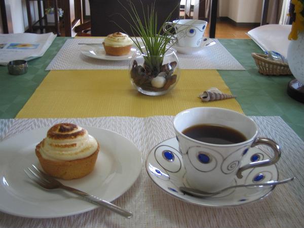スペアリブお食事会のデザート「シブースト」