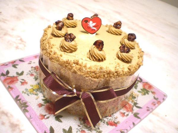 くるみのモカデコケーキ