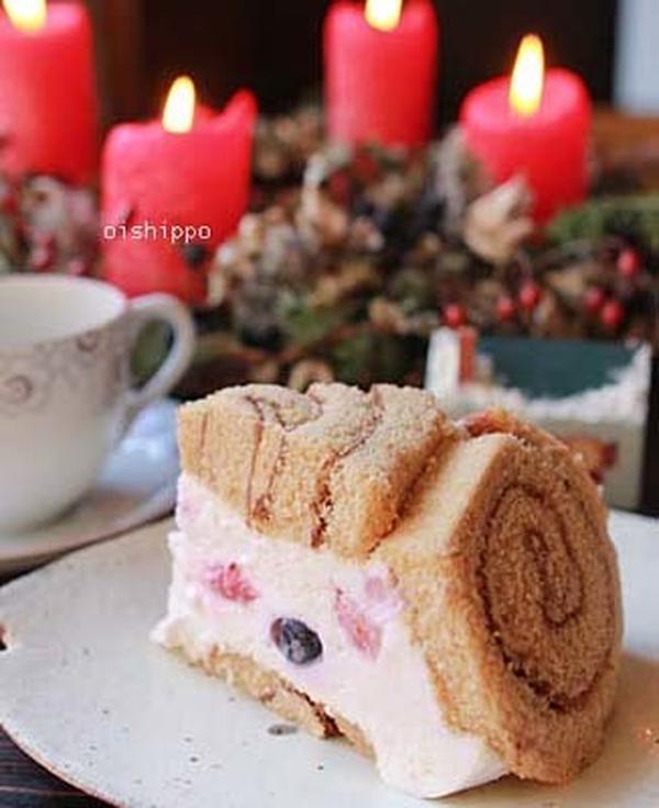 クリスマスケーキ、「ズコット」簡単レシピです。