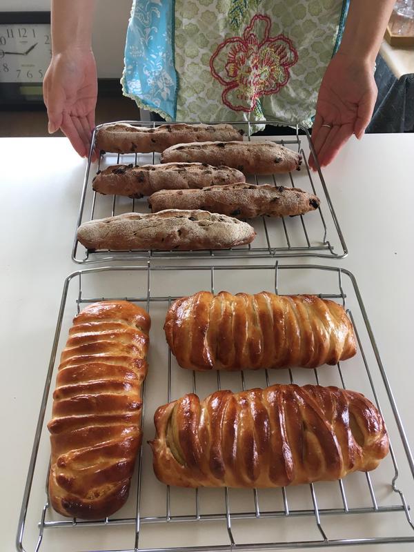 Mさん作:アップルクリームチーズとパン・オ・フリュイ