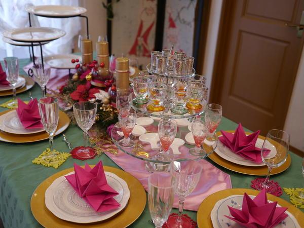 クリスマスおもてなしレッスン テーブルコーディネート