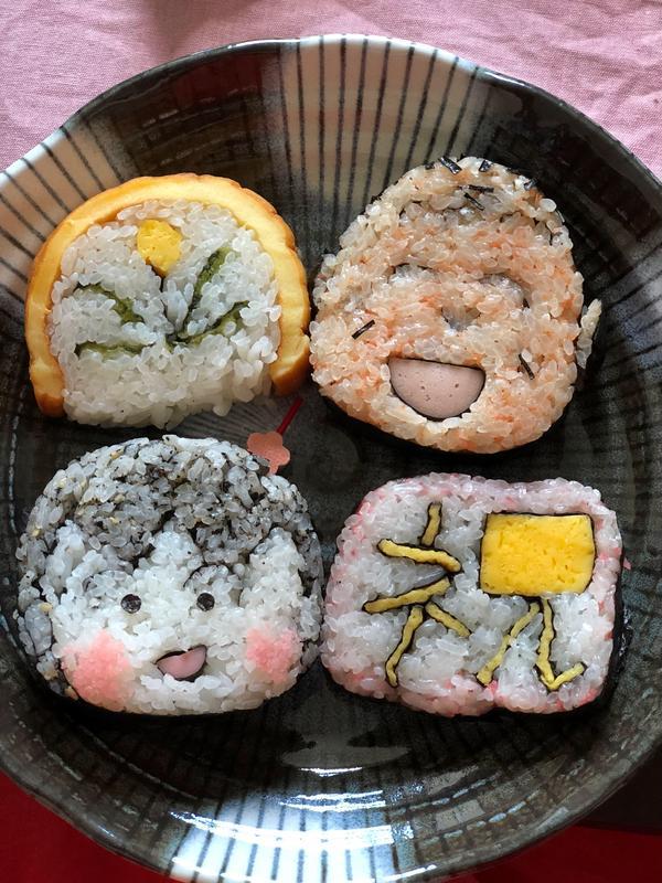 敬老の日の飾り巻き寿司✨