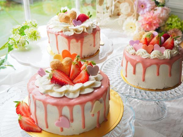 イチゴのドリップケーキ お一人1台製作