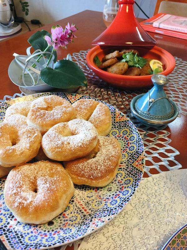 モロッコのドーナツ&コロッケ