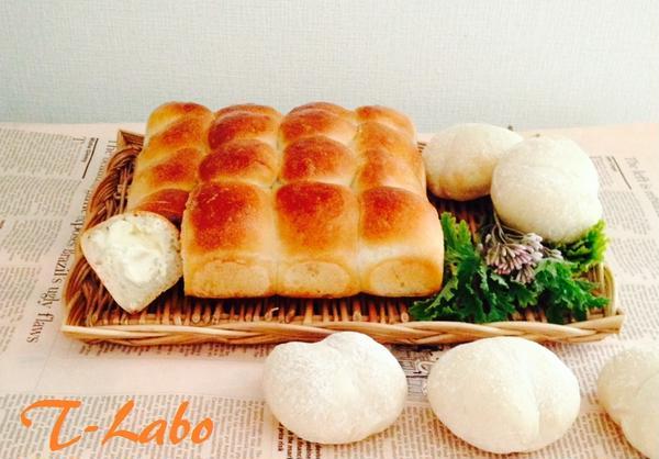 白パン&ちぎりパンチーズ入り