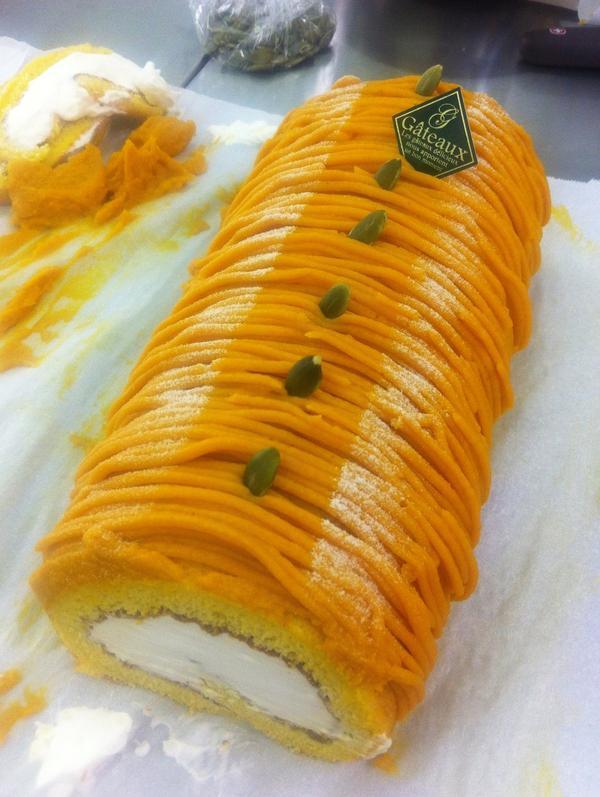 山﨑ゆきのケーキレッスン かぼちゃのロールケーキ