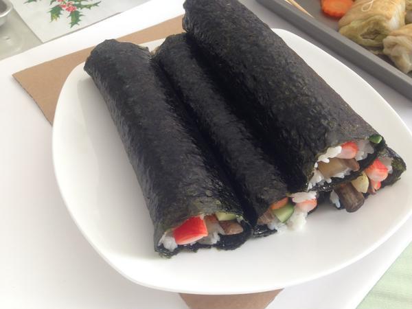 根菜たっぷりヘルシー巻き寿司