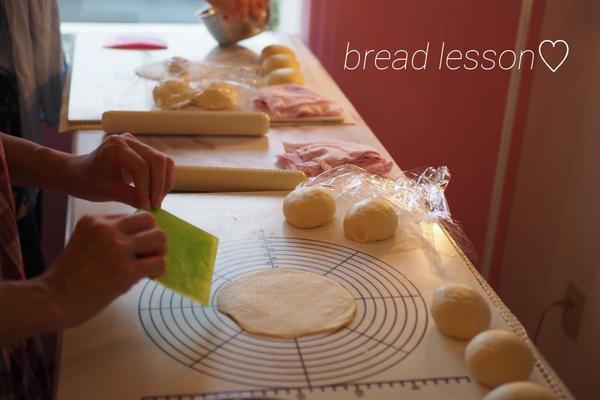 手ごねパンレッスンの様子です。