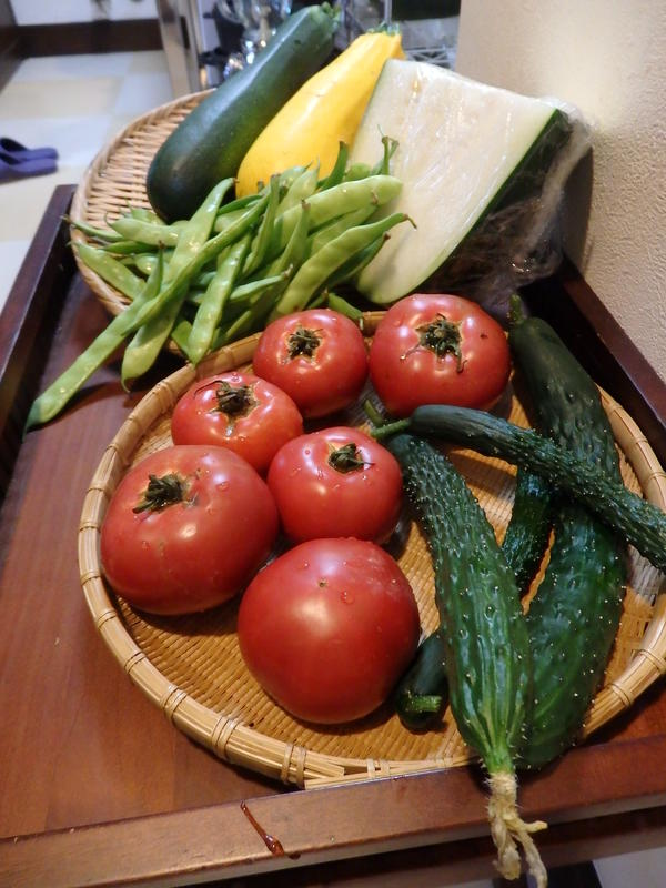「季節の薬膳レッスン-夏」夏野菜は自家菜園から。