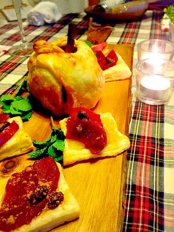 紅玉の赤ワイン煮でサクサクアップルパイ