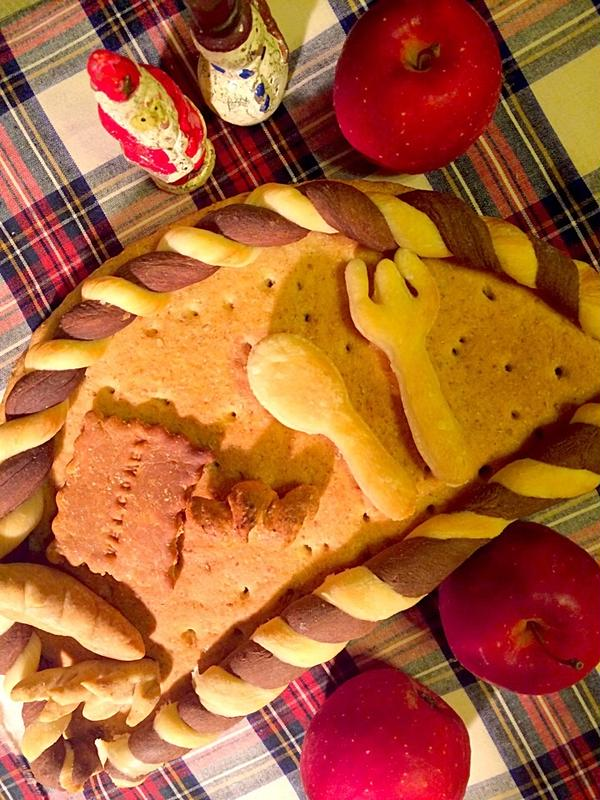 パンでかわいいウェルカムボードを作りましょう