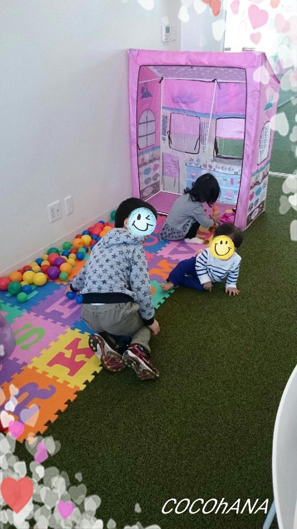 レッスン中♥ お子様たちは楽しく遊んでまーす♪♪