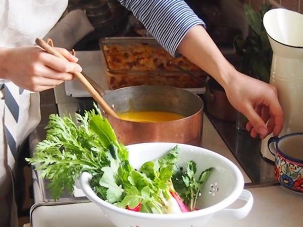 旬の食材たっぷり、ご家庭でも再現しやすいお料理です