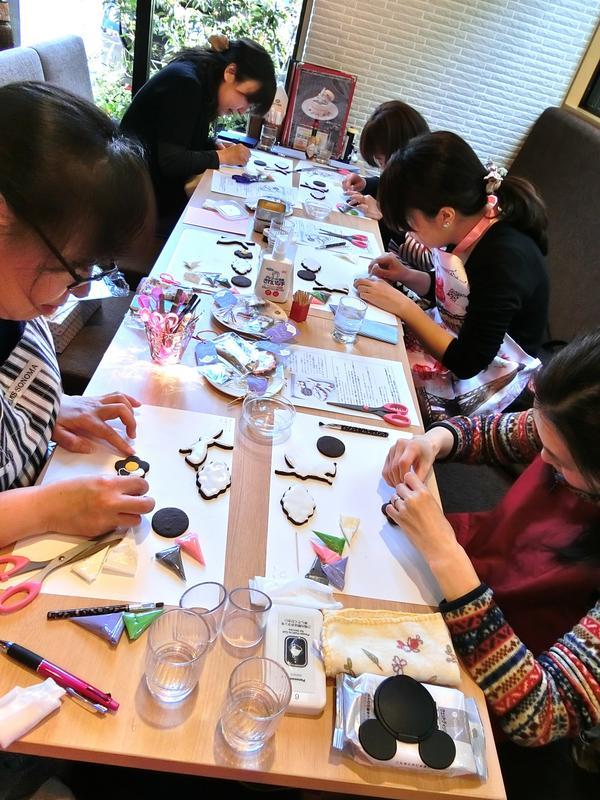 ミヤマ珈琲春日町店でのレッスン風景