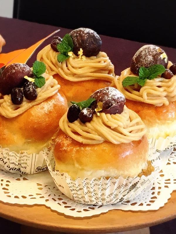 和栗のクリームパン