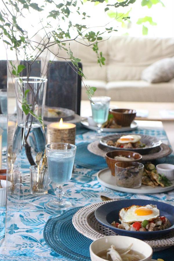 アジアンな夏のおもてなし料理のテーブル(2020)