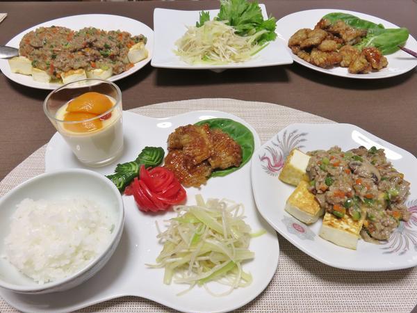 中華(鱧の五香粉ソース~枇杷仁豆腐)