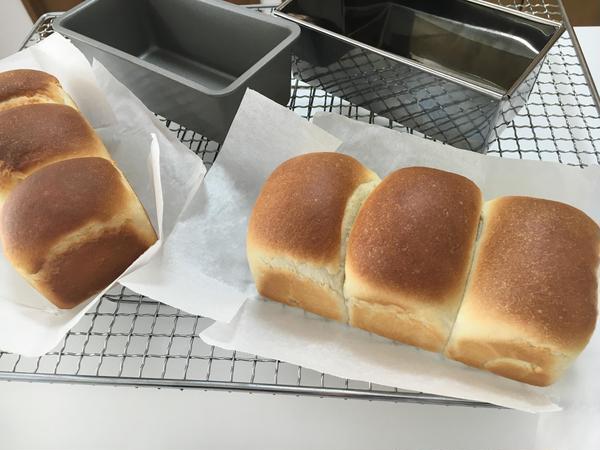 焼けたら嬉しい食パン!型付でのレッスンです