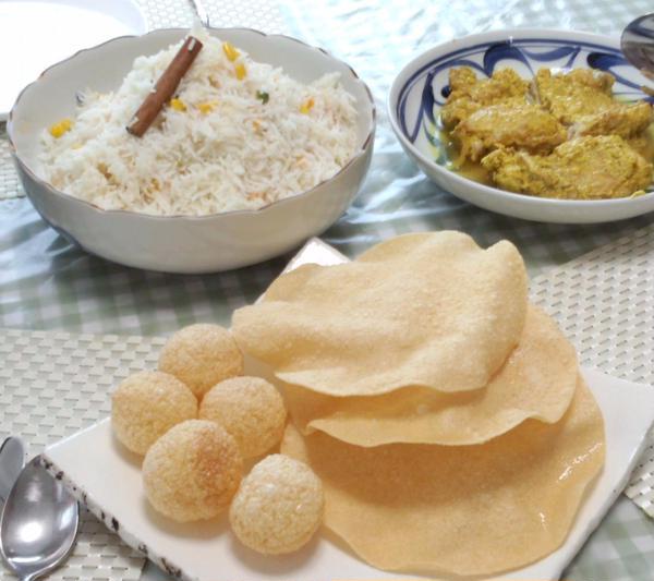 購入したインド食材を使ってのインド料理教室