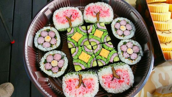 お花見BBQでの巻き寿司。