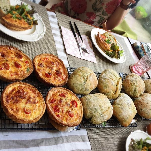 夏野菜のキッシュとアオサのリュスティックのレッスン