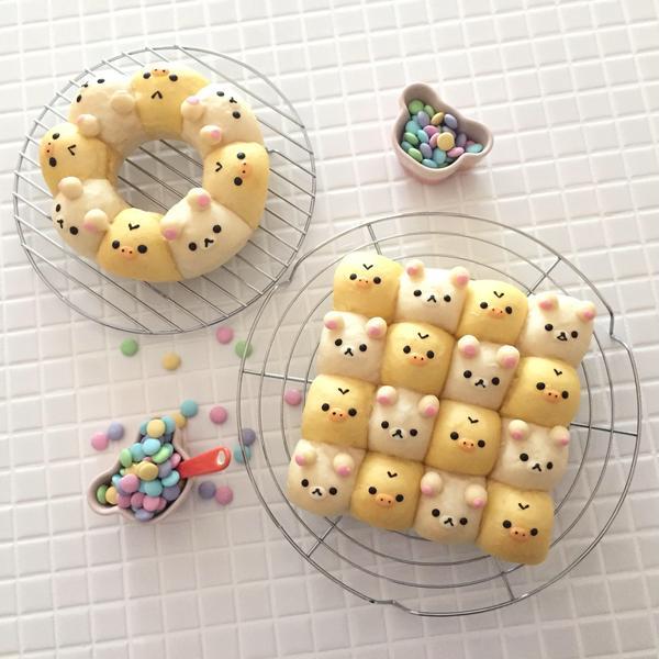 生徒さんご試食用ちぎりパン。一例。空き時間に☆