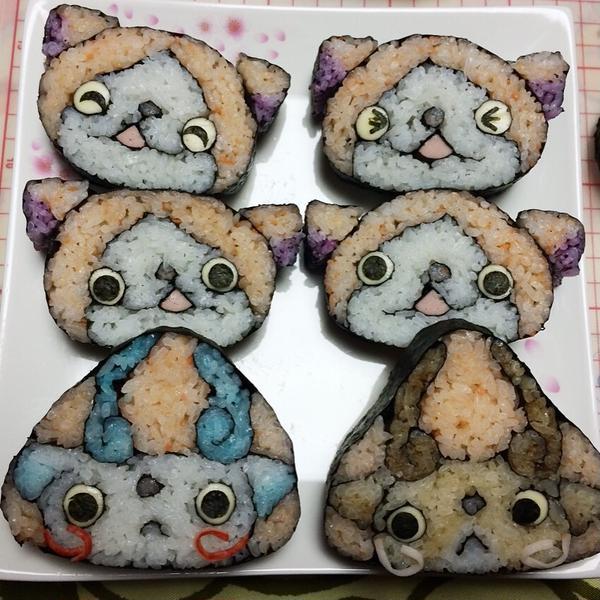 得意のキャラデコ飾り巻き寿司