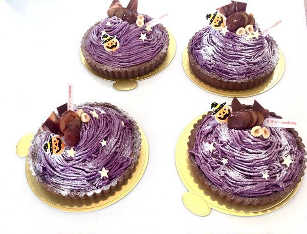 紫いものモンブランタルト