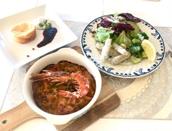 ビスク風海老グラタンで冬ディナー