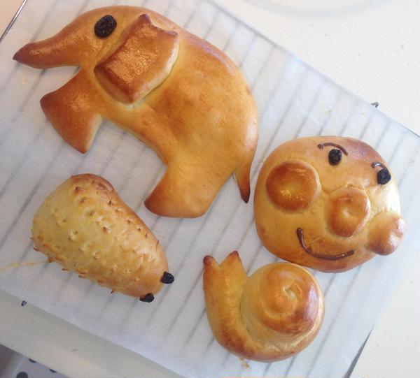 こんなパンが作れたら、お子様大喜びですね。
