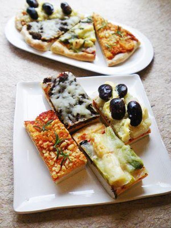 パン教室。花豆、下仁田ねぎ、キビ、牛蒡のピザです。