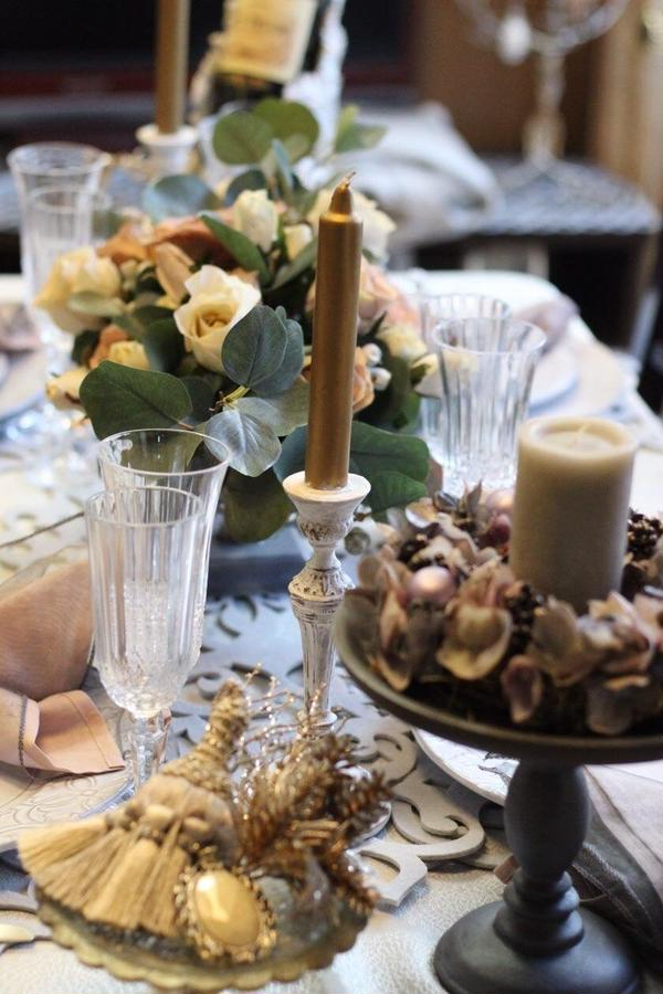 クリスマスレッスン時にはテーブルコーディネートでお出迎え♪