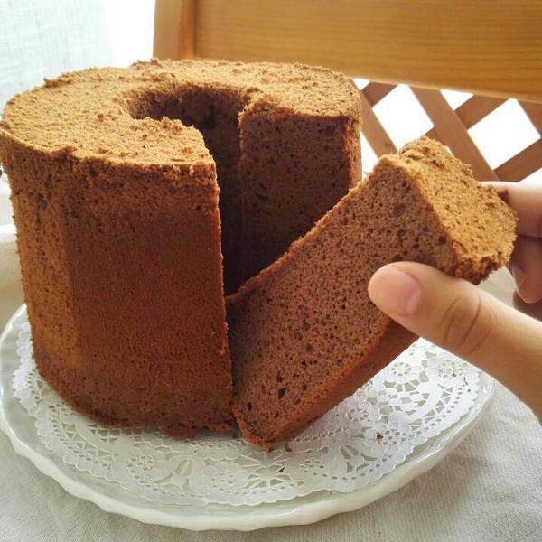 米粉deココアシフォンケーキ