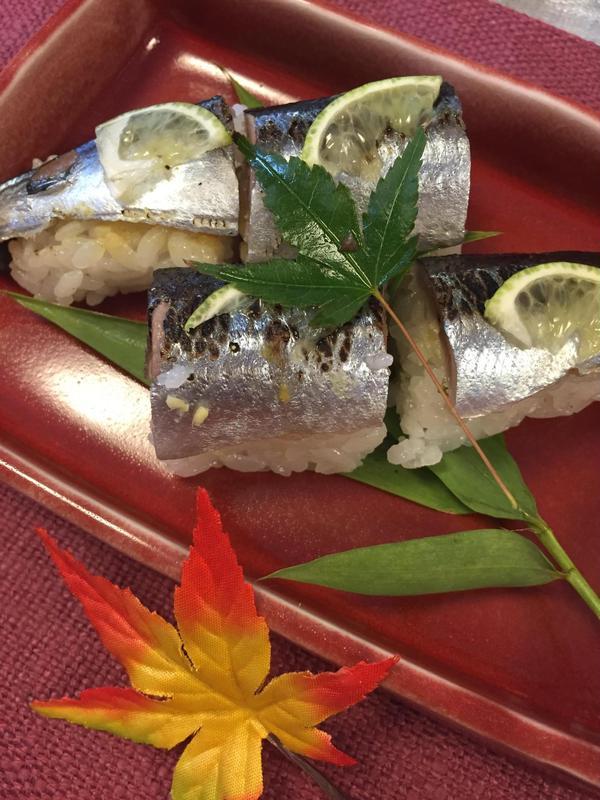 秋刀魚のさばきかたからレッスンした秋刀魚寿司です