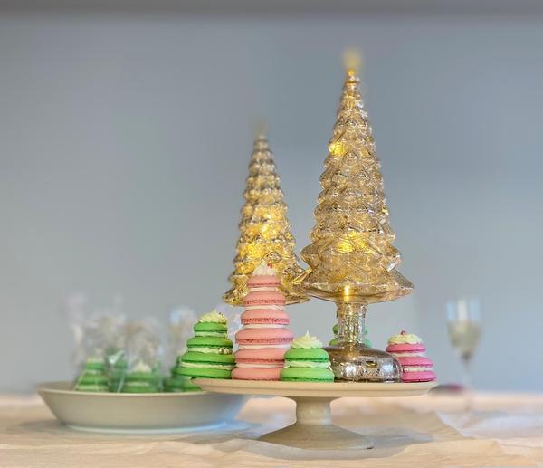 クリスマスレッスンのおやつテーブルの飾り付け