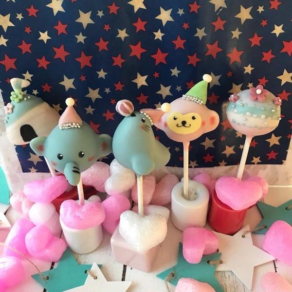 ケーキポップスで可愛いキャラクターを作れるようになりますよ☆