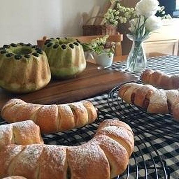 毎回2種類のパンを作っていただきます。