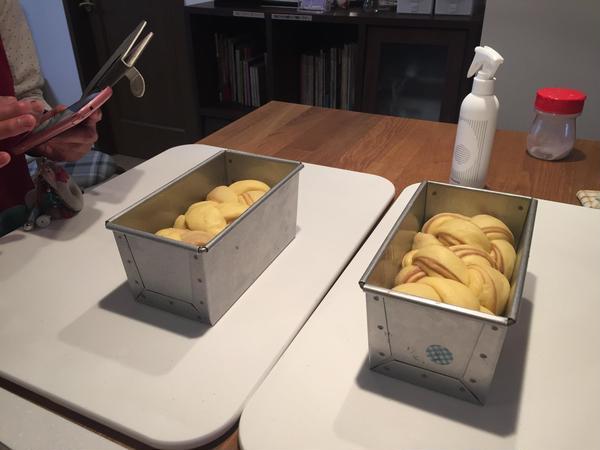 リッチマロンのブリオッシュ食パン発効後の様子。