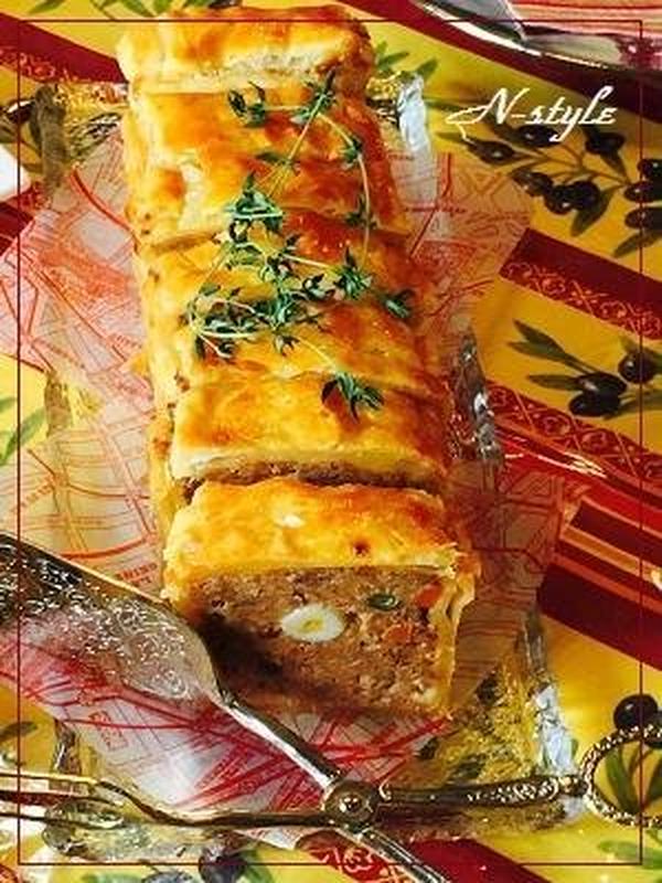 ミートローフのパイ包み焼き