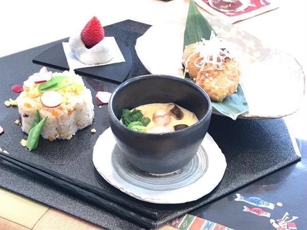 2017年4月ちらし寿司と茶碗蒸しなど和食メニュー